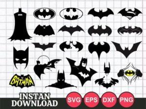 mask face symbol batman svg cut file cricut