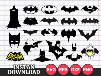 mask face symbol batman svg cut file cricut