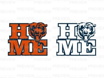 chicago bears svg home svg cut file