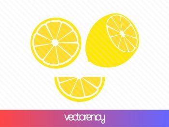 lemon svg cut file eps vector slice citrus