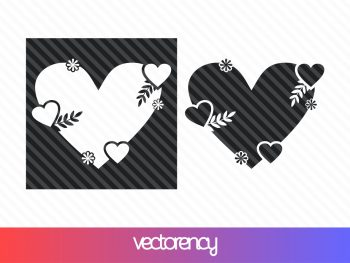 cricut love frame svg cut file