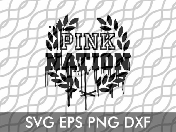 pink nation drip svg cut file