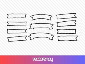 ribbon hand drawn vector