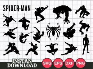 cricut spiderman svg cut file bundle