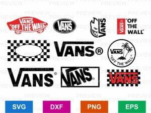 vans logo svg cut file bundle cricut silhouette cameo