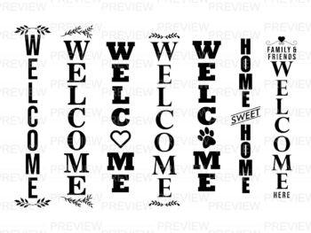 best welcome sign svg vertical cricut farmhouse