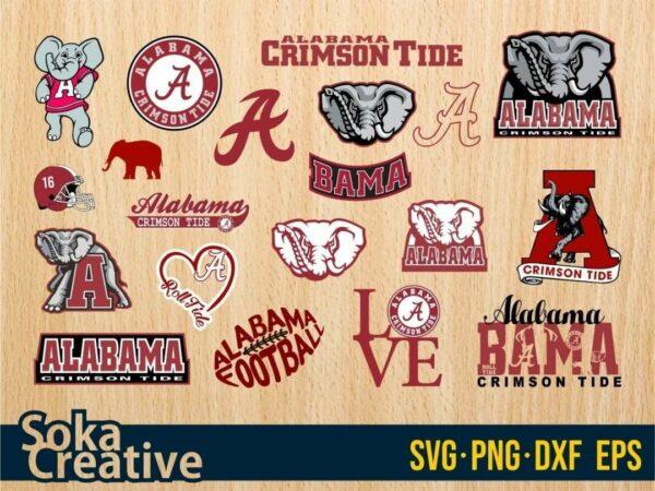 Alabama Crimson Tide SVG Vectorency Alabama Crimson Tide SVG Bundle