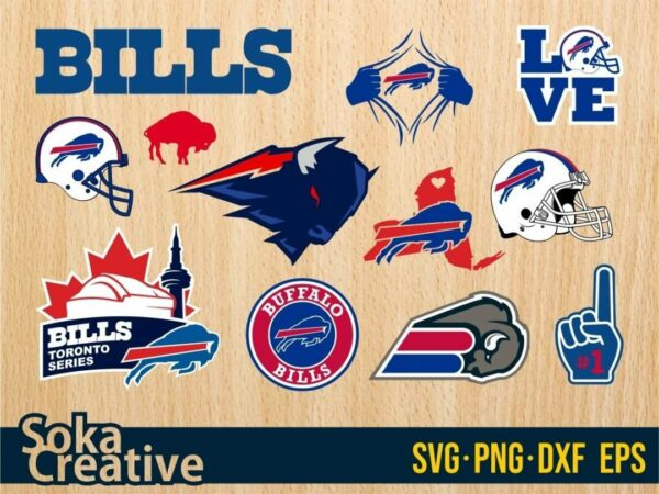 Buffalo Bills SVG Bundle cricut logo