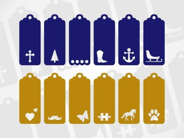 Christmas Gift Tag Svg Bundle Vectorency Christmas Gift Tag SVG Bundle