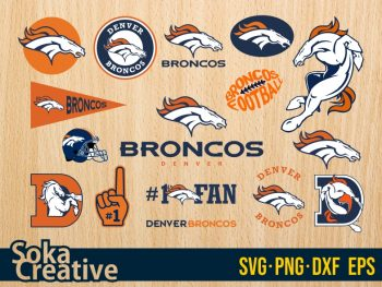 Design Logo Denver Broncos SVG Bundle