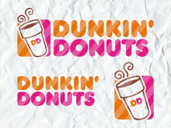 Dunkin Donuts SVG Logo Cup Bottle