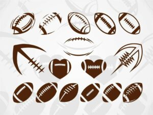 Football SVG cricut cut file vector half football ball