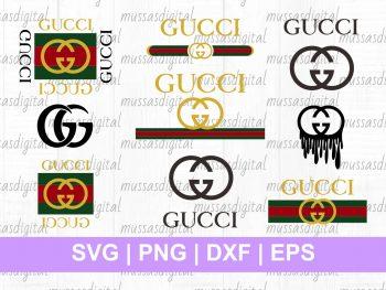 Gucci logo SVG cricut