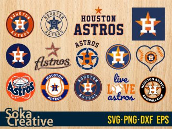 Houston Astros SVG bundle cricut layered