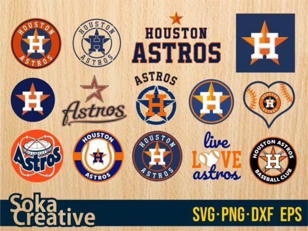 Houston Astros SVG bundle cricut layered