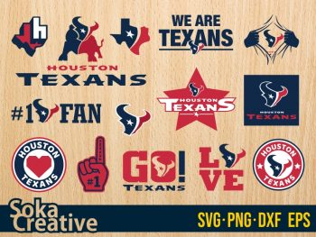 Houston Texans SVG Cut Files Bundle