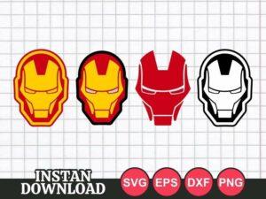 Iron Man Face Mask SVG