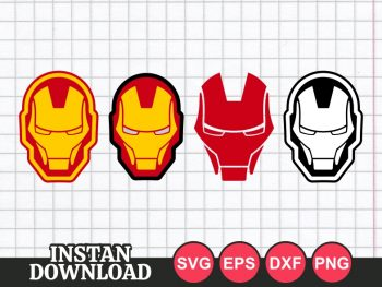 Iron Man Face Mask SVG