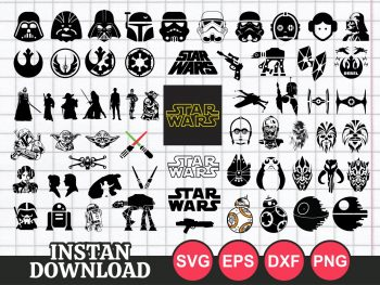 Logo Icon Star Wars SVG Bundle family cricut