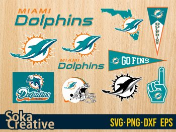 Miami Dolphins logo svg Bundle