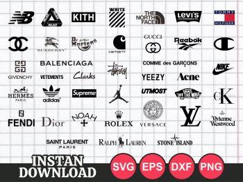Popular Fashion Logo Bundle Mega Pack