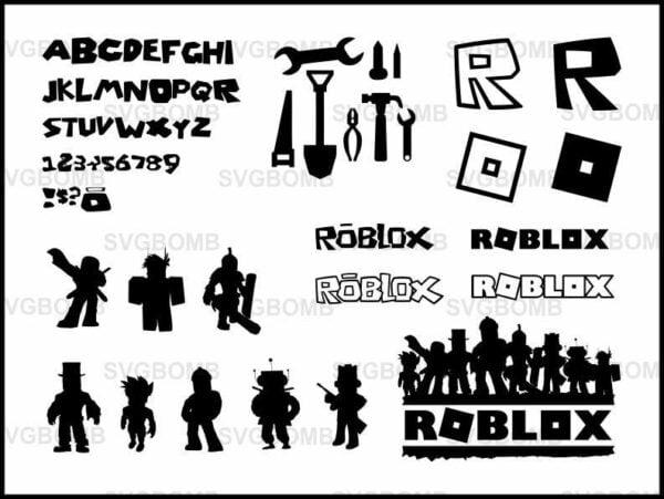 Roblox svg bundle cricut font logo