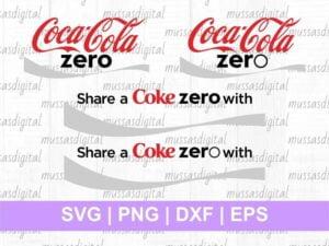 Share A Coke Zero coca cola zero svg
