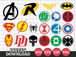 Superhero Logo SVG Bundle