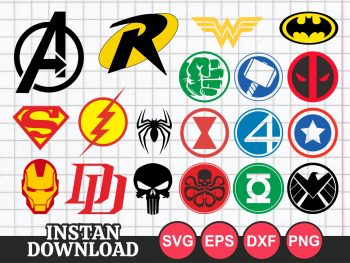 Superhero Logo SVG Bundle