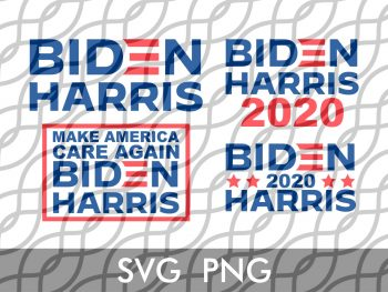 biden harris svg cut file