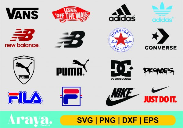 brand sneaker logo scaled Vectorency Brand sneakers shoes logo SVG PNG DXF EPS