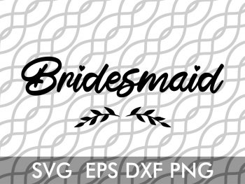 bridesmaid wedding svg