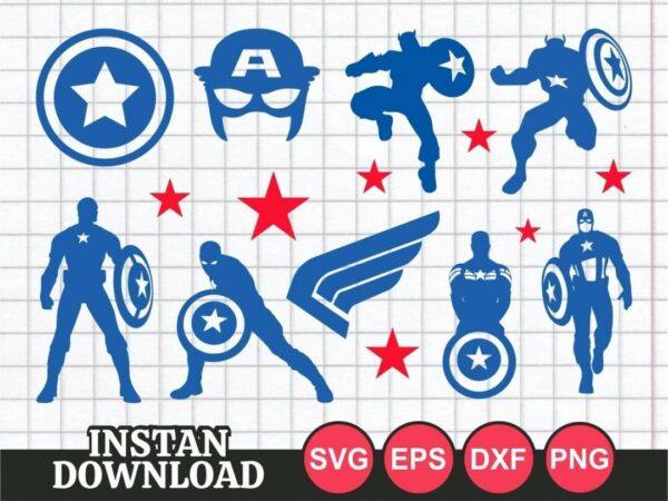 captain america svg bundle Vectorency Captain America SVG Bundle