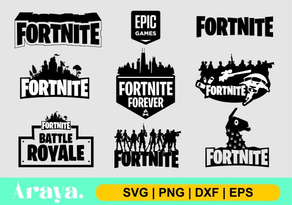 fortnite logo scaled Vectorency Fornite Bundle SVG Cut File