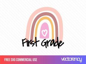 free svg first grade rainbows cut file