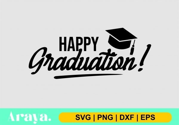 happy graduation scaled Vectorency Happy Graduation SVG Cut File