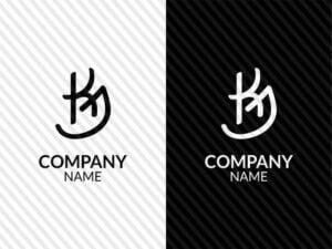 kj initials logo vector