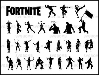 list emote fortnate emote svg bundle 2