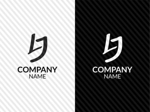 lj initials logo vector template