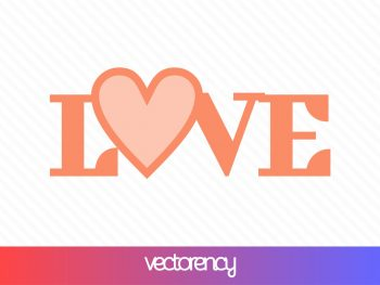 love svg cut file layered