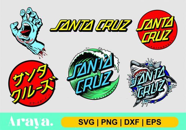 santa cruz logo scaled Vectorency Santa Cruz Logo SVG DXF PNG EPS