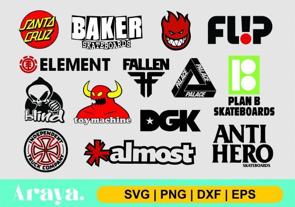 skateboard brand logo scaled Vectorency Skateboard Brand Logo SVG PNG DXF EPS