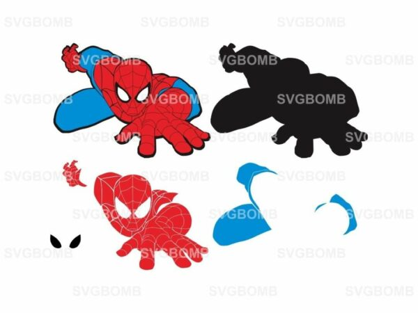spiderman svg layered cut file