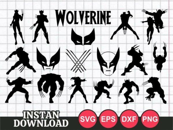 wolverine svg bundle cut file mask silhouette