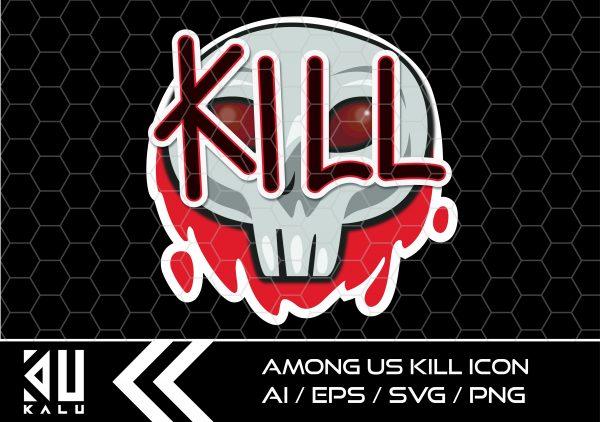 AU Kill Icon Mesa de trabajo 1 Vectorency Among Us Vector - Kill Icon