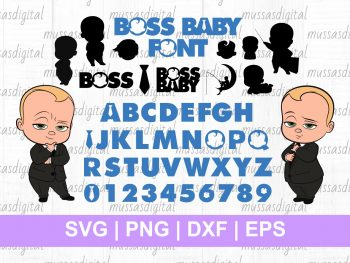 Boss Baby Font Svg