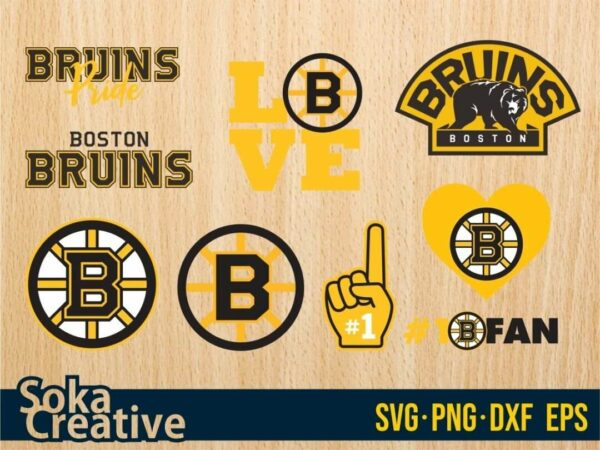 Boston Bruins Hockey Team SVG Vectorency Boston Bruins Hockey Team SVG Bundle
