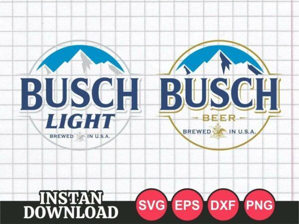 Busch Beer Logo SVG Light Late