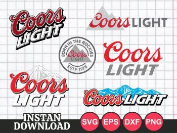 Coors Light SVG cut file