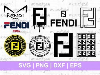 Fendi Logo SVG Bundle Cut File